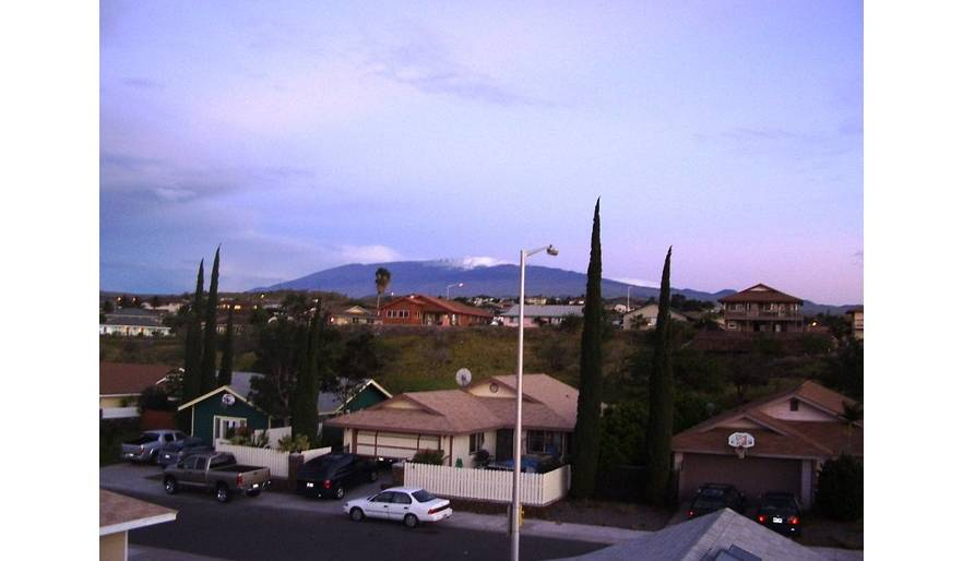 Front View of Mauna Kea with Snow (Winter)