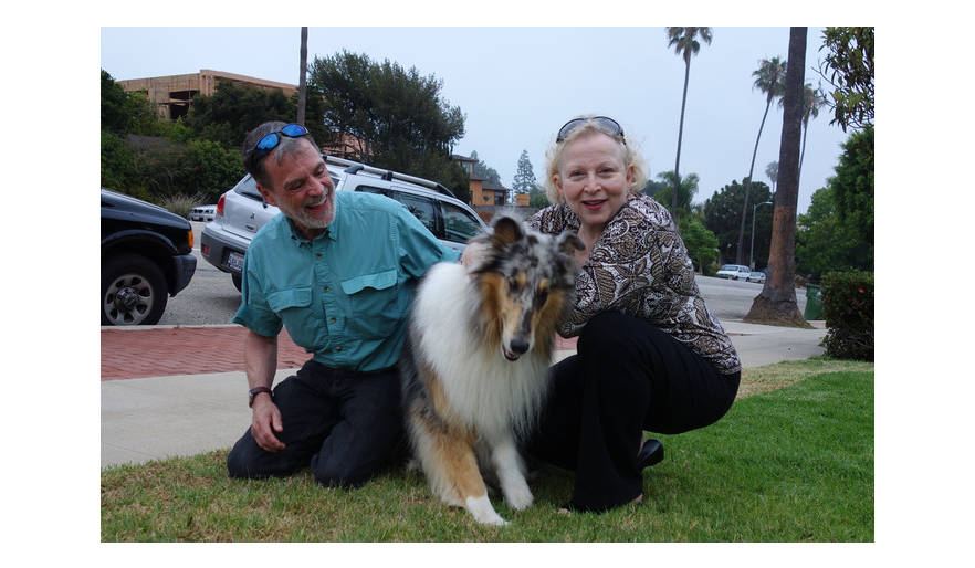 Judy and Sandy with The Bandit, Los Angeles, USA