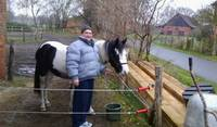 winter time feeding and caring for a neighbor's Cob mare...