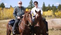 Gary and I on our horses in Colorado, USA