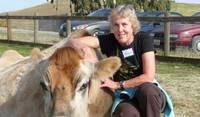 Visiting Farm Sanctuary. I love all animals.