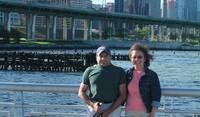 At the 65th St. Pier in NYC where we took Gracie out for walks.