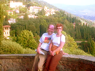 Larry and Janis in Florence.